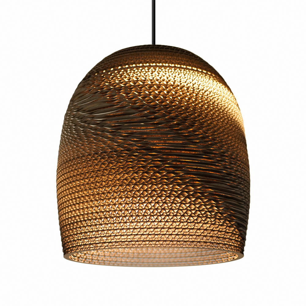 Graypants Bell 10inch Pendant light Natural Brown