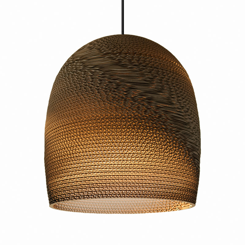 Graypants Bell 16inch Pendant light Natural Brown