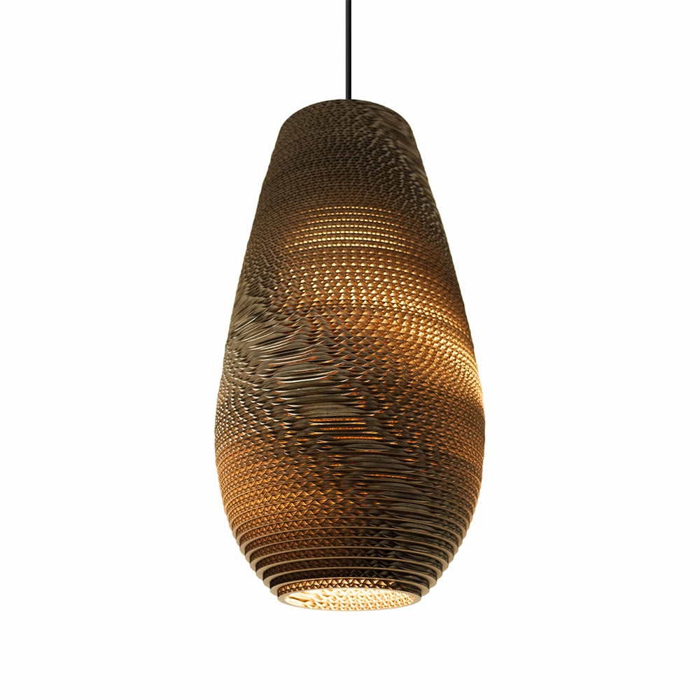 Graypants Drop Pendant 26inch Pendant light Natural Brown