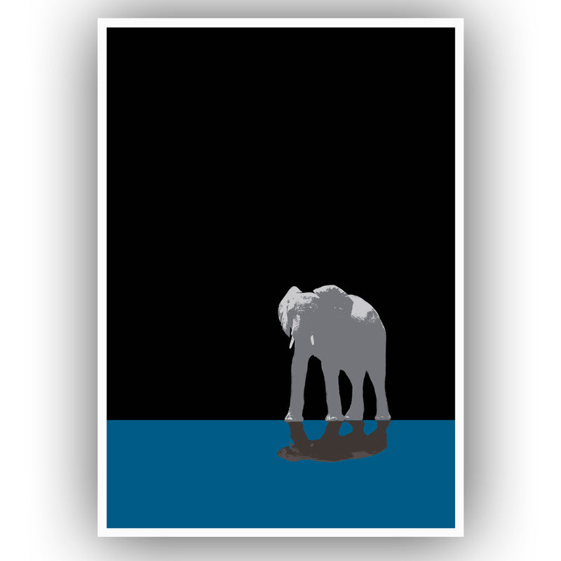 One Elephant Wall Poster By Hershgold