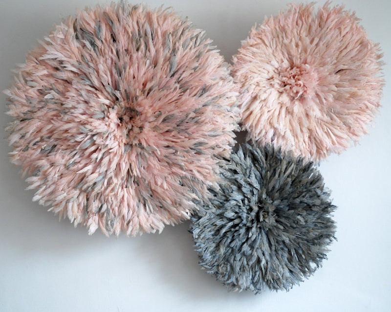 Juju Hat Set Of Three Pinks and Greys