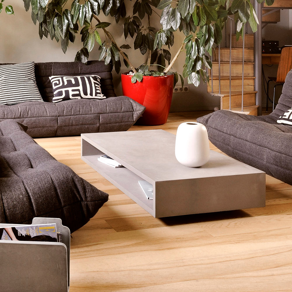 Lyon Beton Monobloc Rectangular Coffee Table