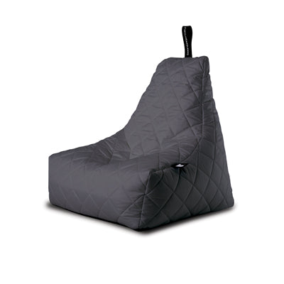 Extreme Lounging Mighty-b Quilted Outdoor Bean Bag Chair Grey
