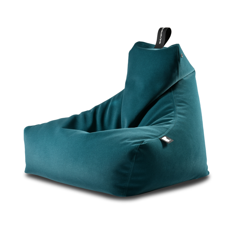 Extreme Lounging Mighty-b Bean bag Chair Suede Blue