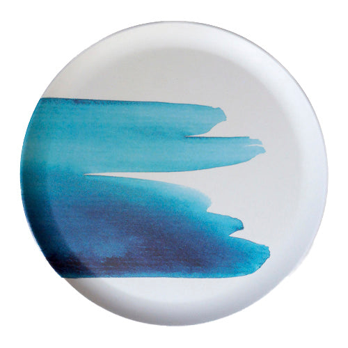 Emilie O'connor Blue Wave Bamboo Plate