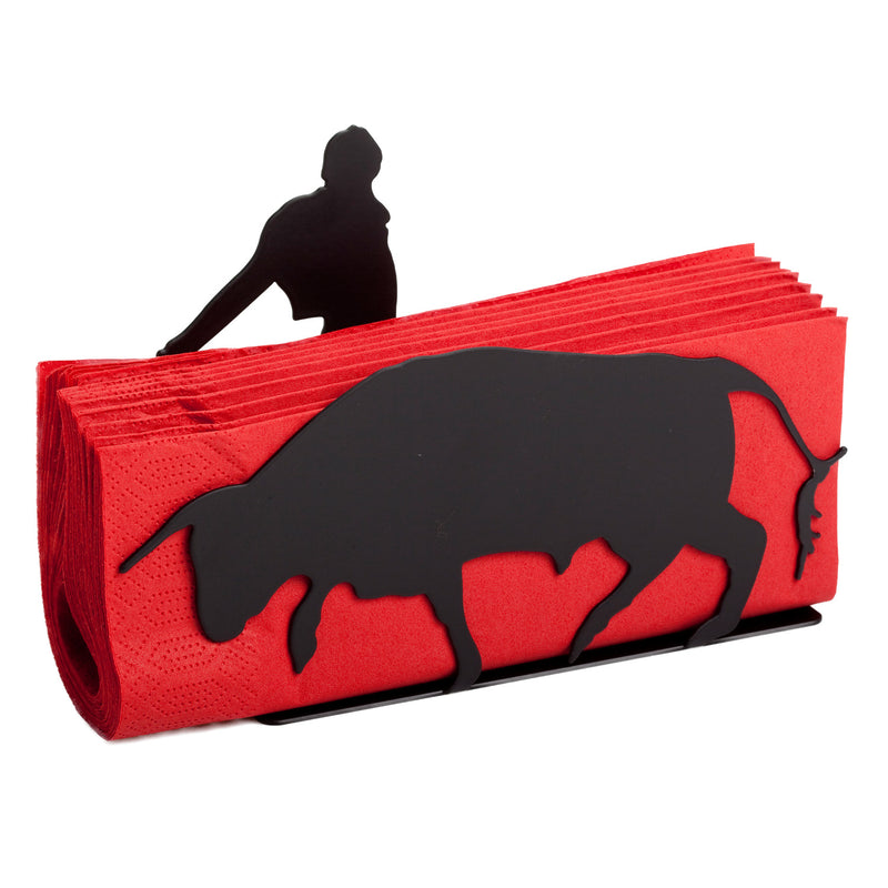 Bull And Matadore Napkin Holder