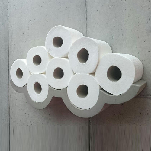 Cloud Concrete Toilet Paper Shelf Small
