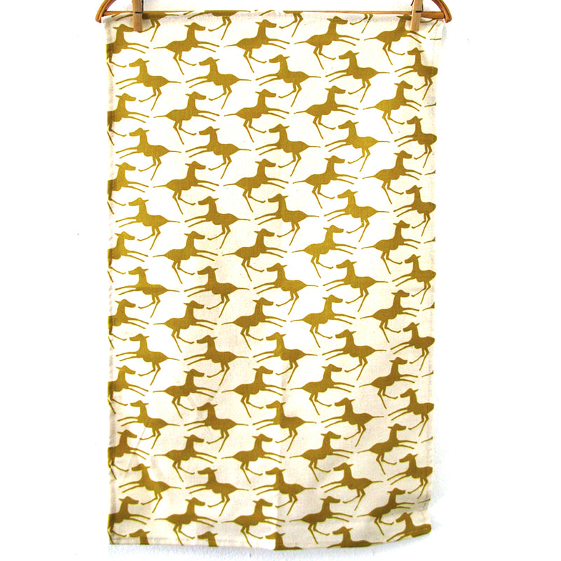 Skinny Laminx Tea Towel Colts Gold