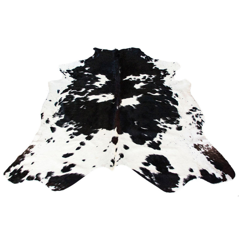 Cowhide Rug Black And White Flecked