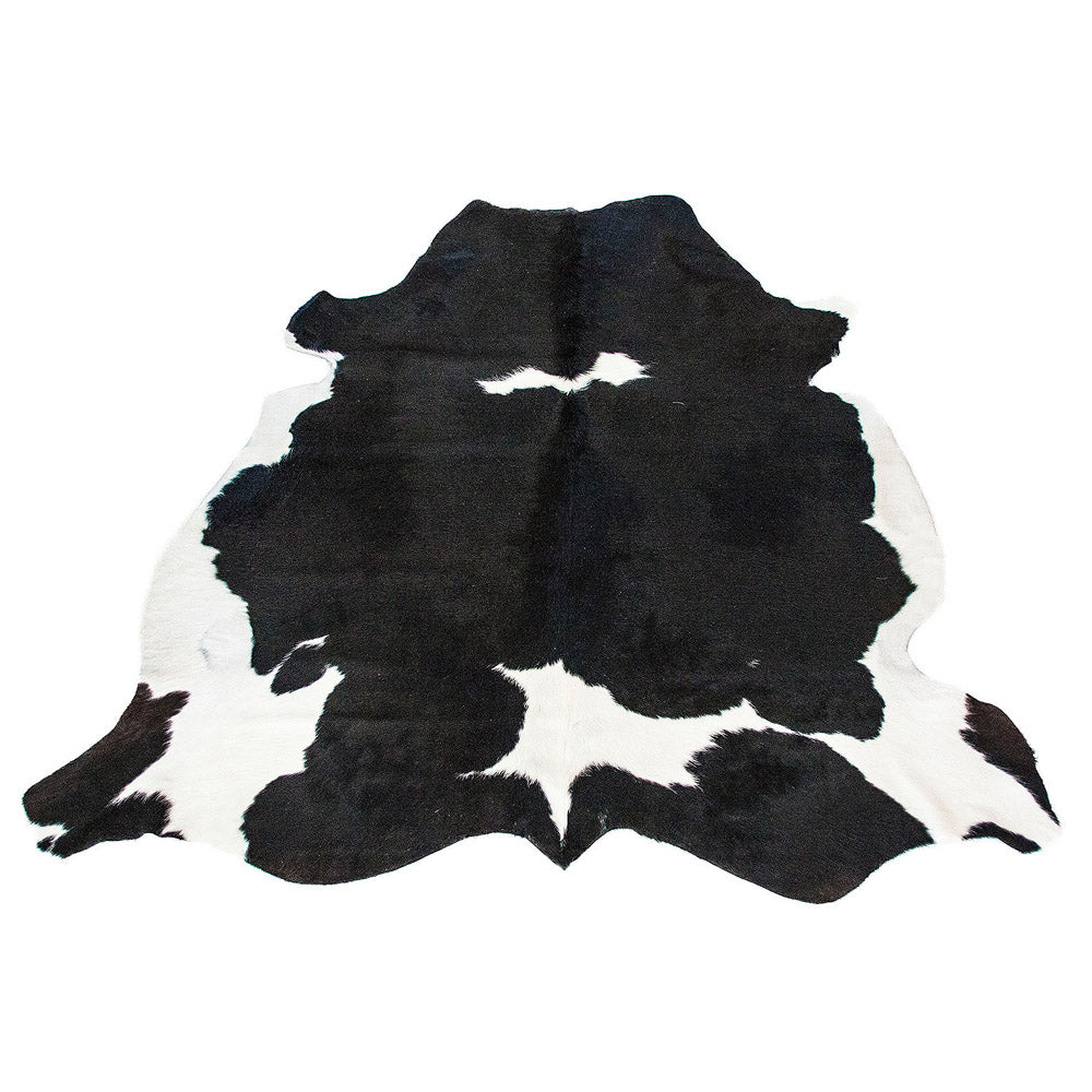 Cowhide Rug Black And White Solid