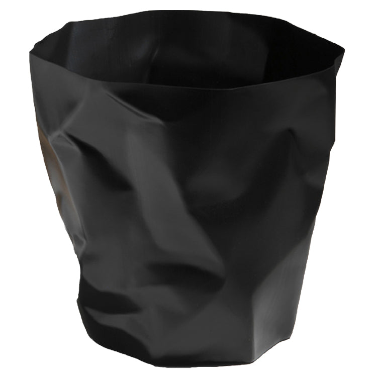 Essey Crumpled Bin Black
