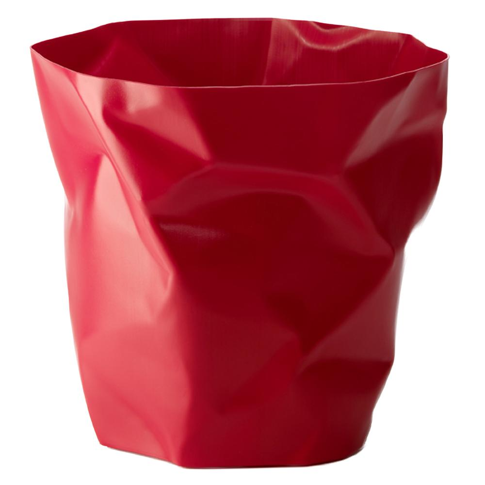 Essey Crumpled Bin Red