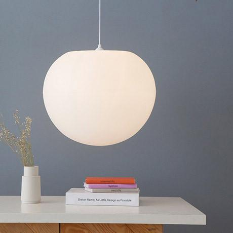 Polly Standard , Modern globe pendant light, bright diffuse lighting, stairwell lighting, elegant pendant lighting