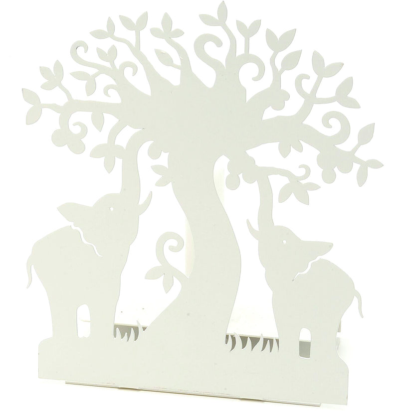 Elephant Candle Holder White