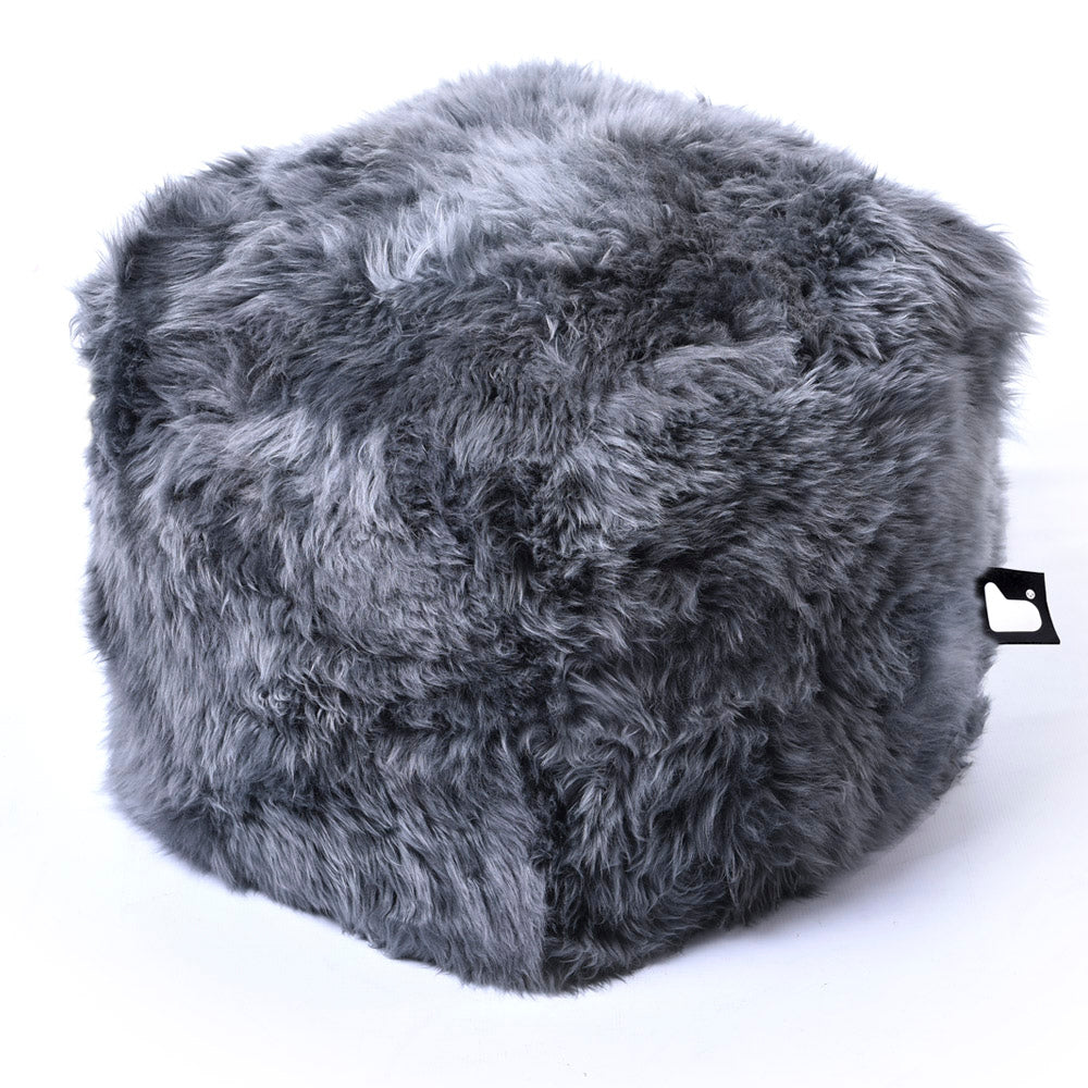 Extreme Lounging Fur B-box Pouf Grey