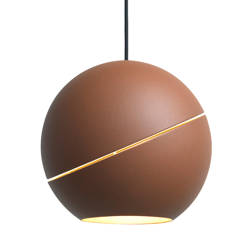 Frederik Roije Sliced Sphere Pendant Light Brown