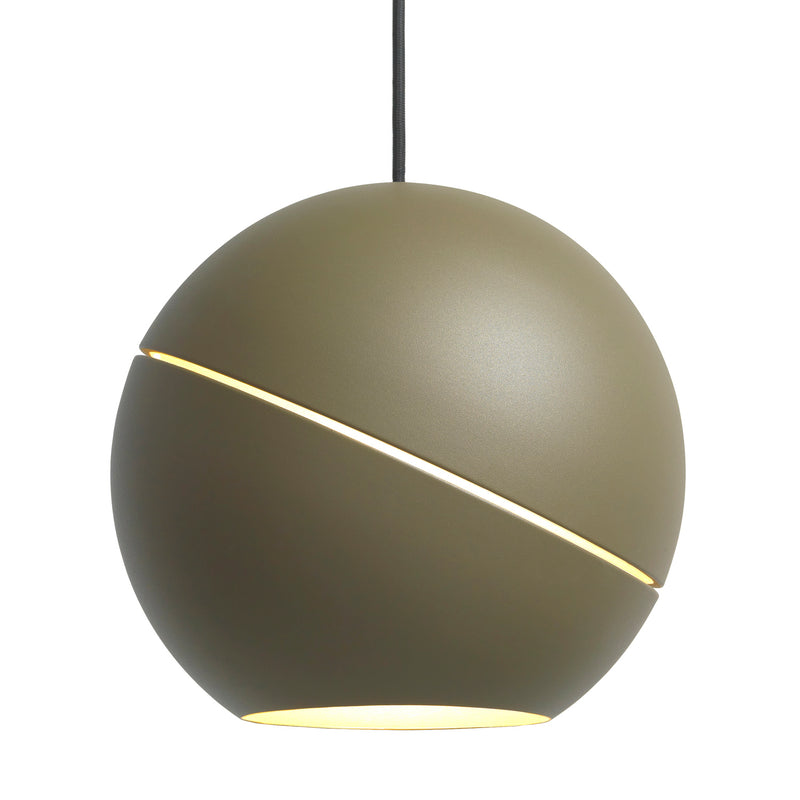 Frederik Roije Sliced Sphere Pendant Light Green