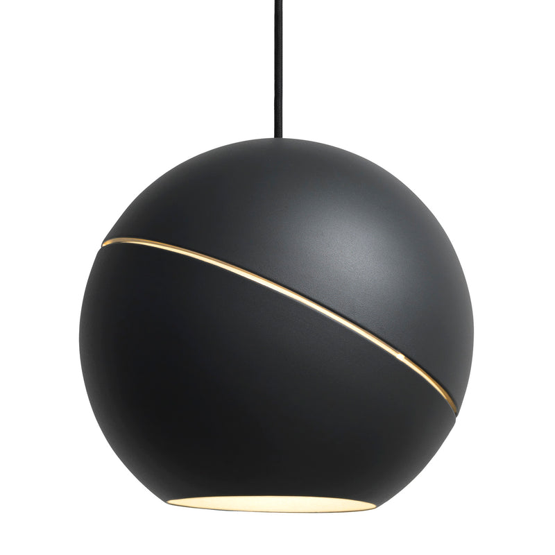Frederik Roije Sliced Sphere Pendant Light Charcoal