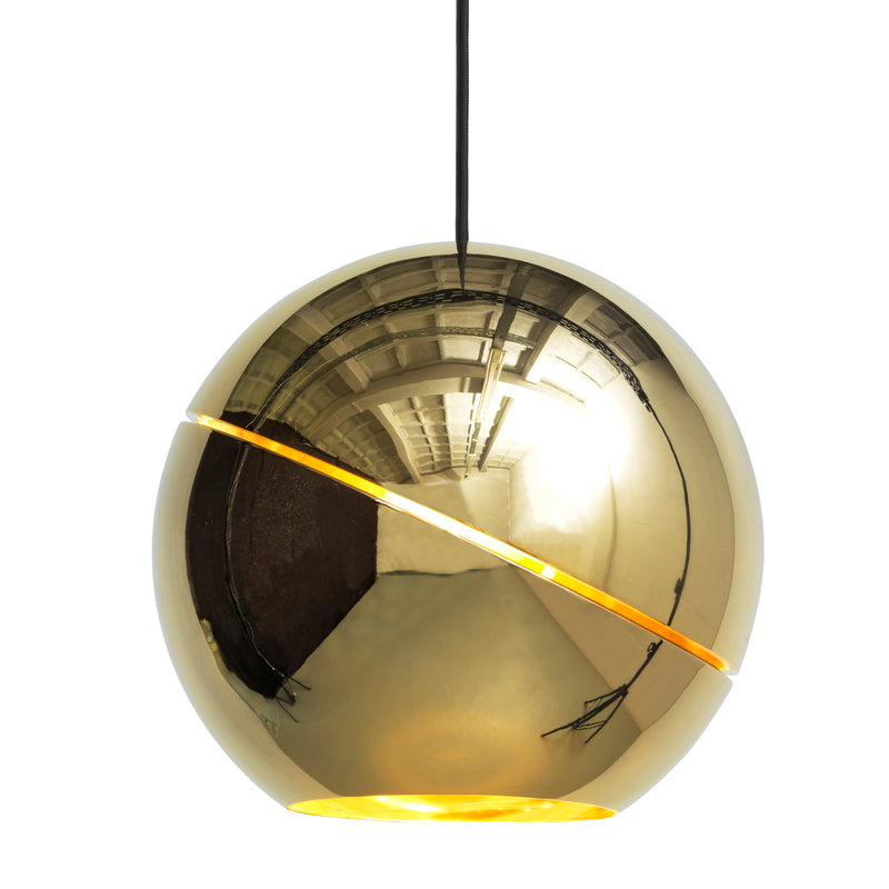 Frederik Roije Sliced Sphere Pendant Light Gold