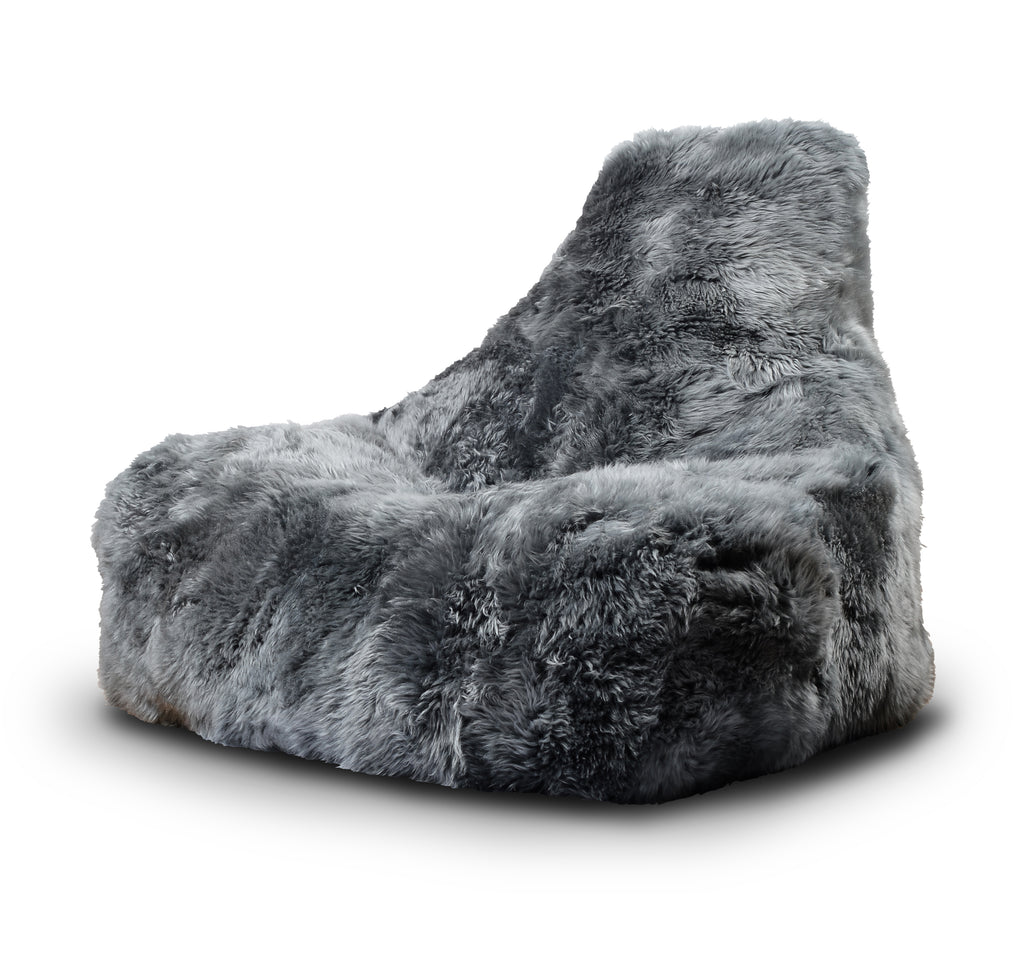 Extreme Lounging Mighty-b Big Furry Bean Bag Chair Grey
