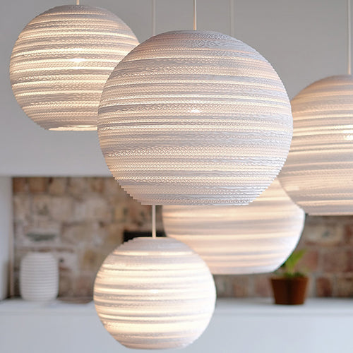 Graypants Scraplights Moon Pendant Light white