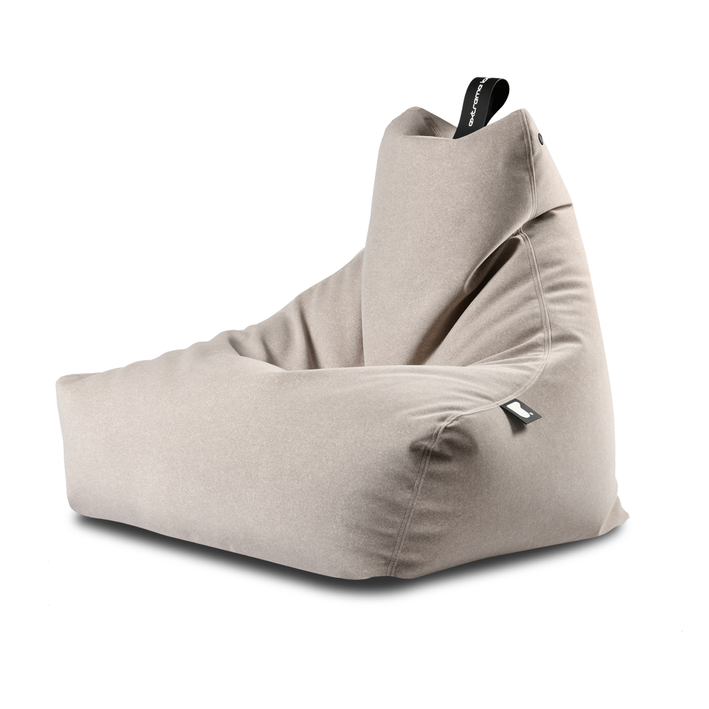 Extreme Lounging Mighty-b Bean bag Chair Suede Grey
