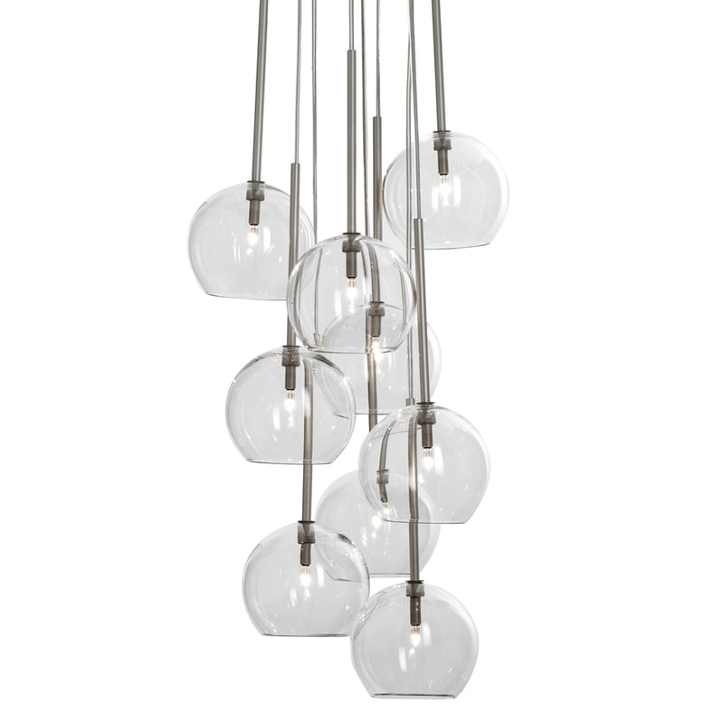 Sofie Refer Ice Chandelier  9 Ball Clear
