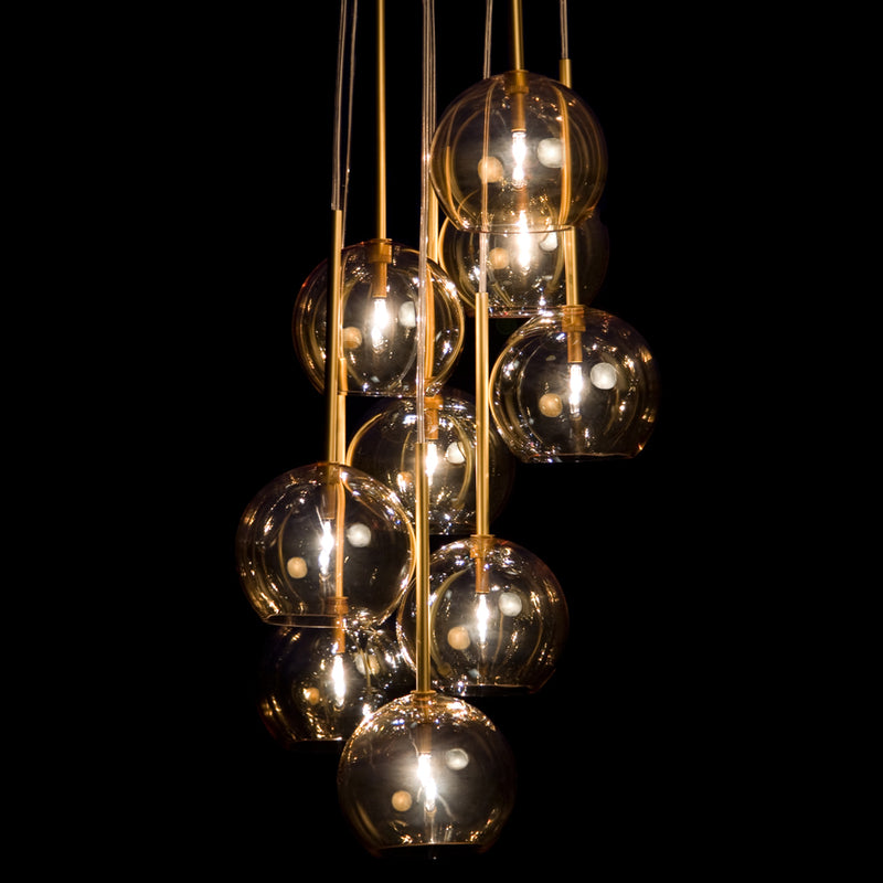 Sofie Refer Ice Chandelier  9 Ball Gold