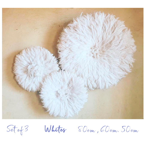Juju Hat Set Of Three White Styled