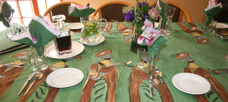 Ladies Of Africa Hand Painted Tablecloth