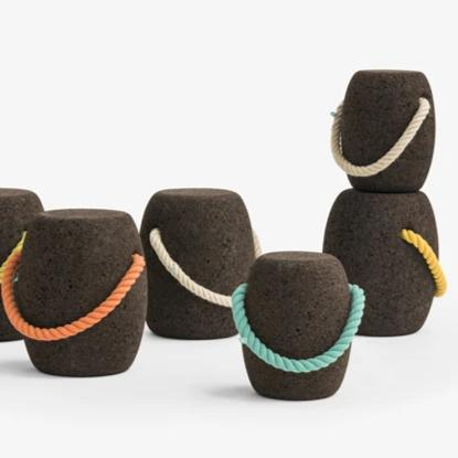 Pipo Cork Stool by Dam Big - Coloured Handles