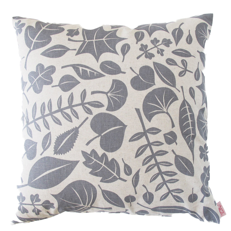 Skinny Laminx Leaves Cushion Cover Grey