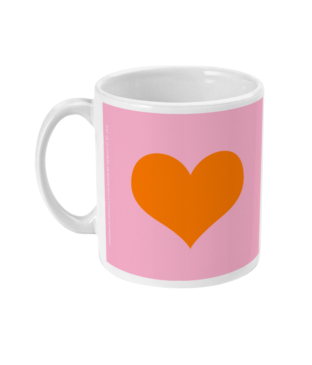 My Love Mug Lilac Wth Orange Heart