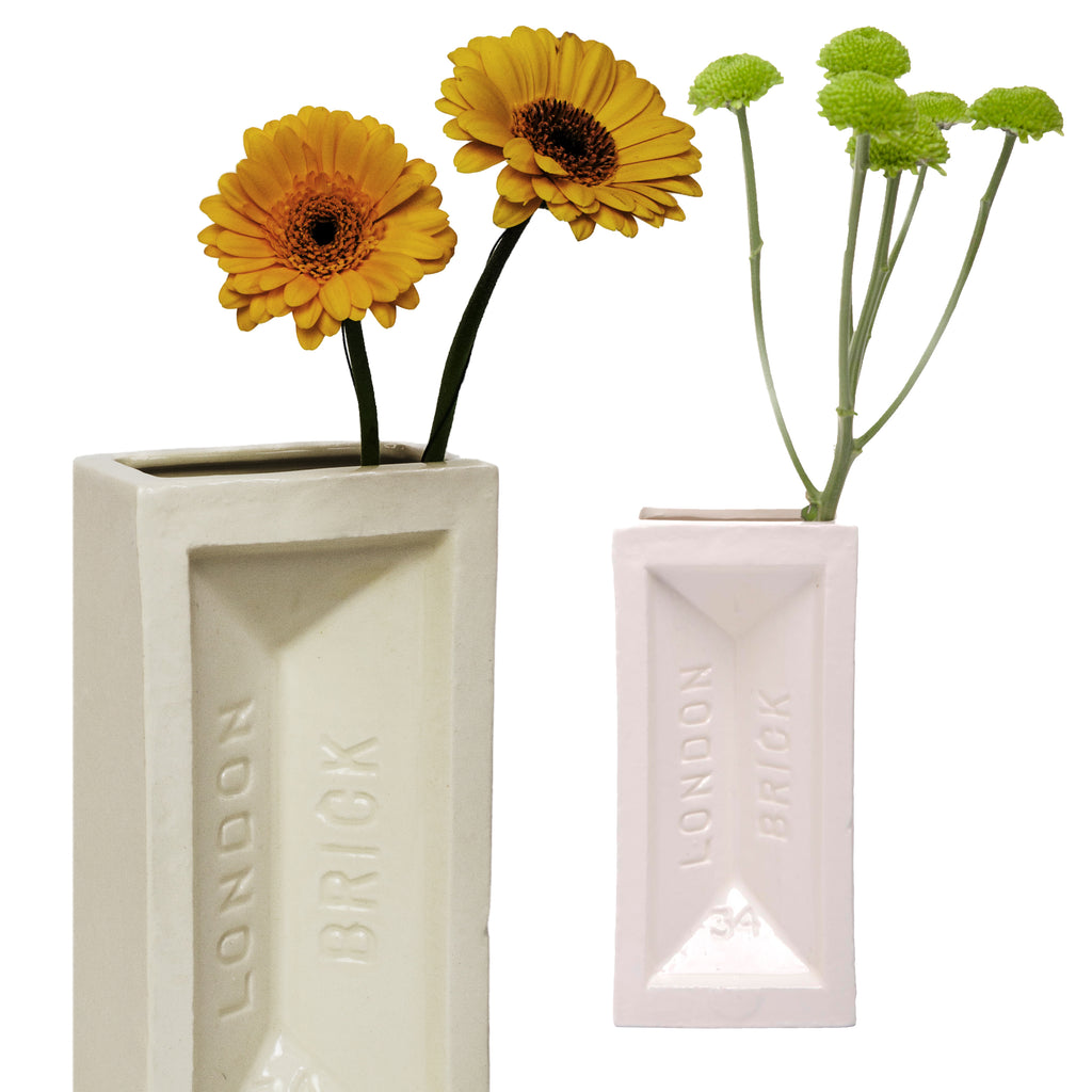 London Brick Vase White