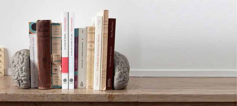 Lyon Beton Grey Matter Brain Bookends