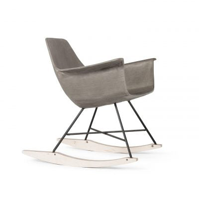 Lyon Beton Concrete Hauteville Rocking Chair Side