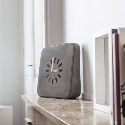 Lyon Beton Life In Progress Concrete Clock styled