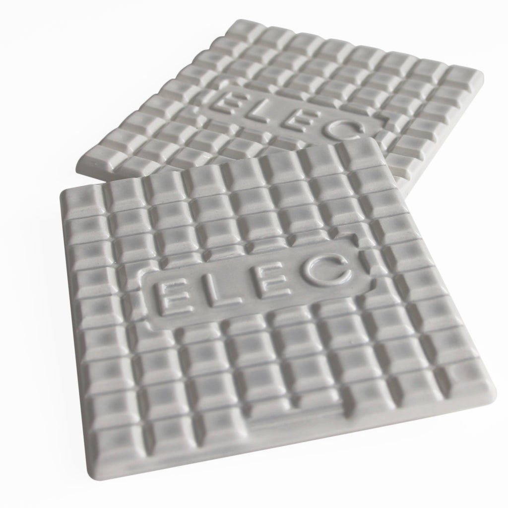 Manhole Coasters-Light Grey - Elec