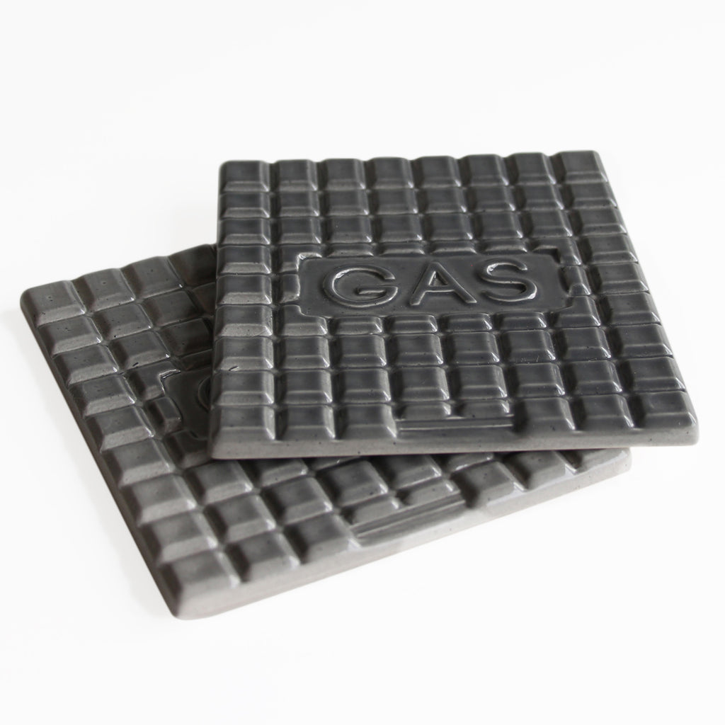 Manhole Coasters-Dark Grey -Gas