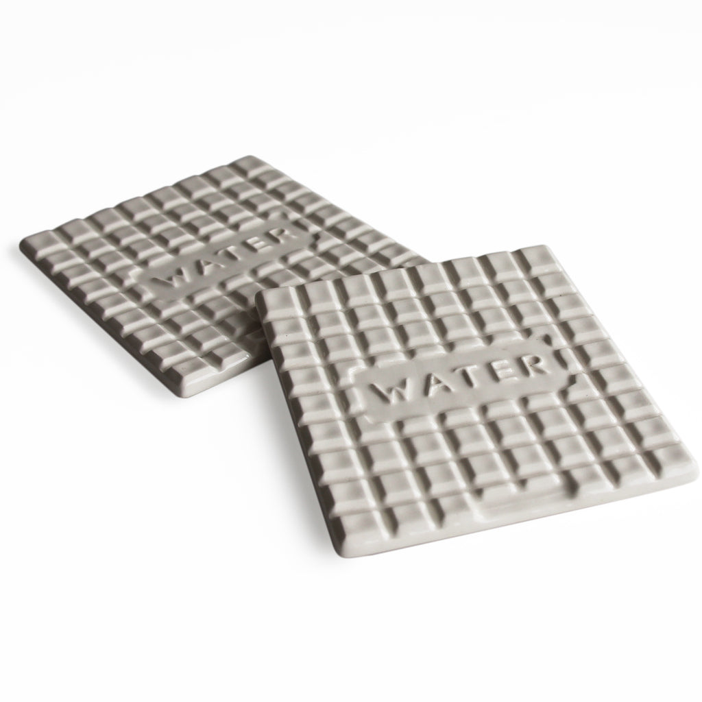 Manhole Coasters-White -Water