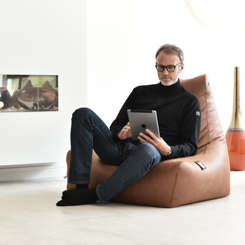 Mighty-b Leather Look Bean Bag Chair