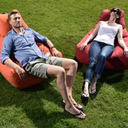 Mighty-b Quilted Outdoor Bean Bag Chair Lifestyle