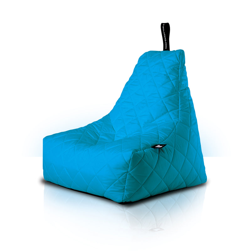 Extreme Lounging Mighty-b Quilted Outdoor Bean Bag Chair Turquoise