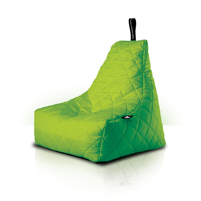 Extreme Lounging Mighty-b Quilted Outdoor Bean Bag Chair Lime Green