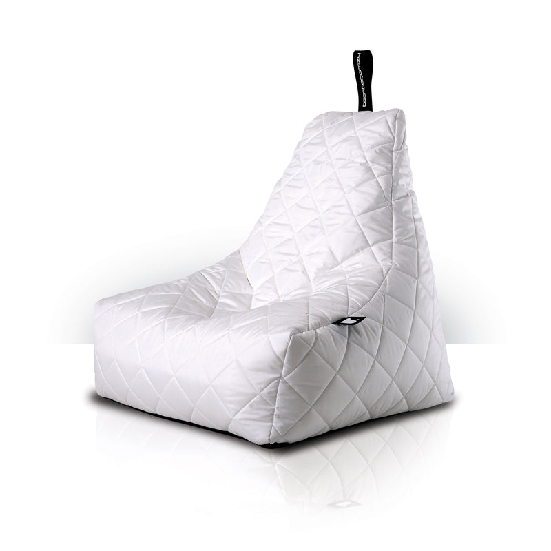 Extreme Lounging Mighty-b Quilted Outdoor Bean Bag Chair White