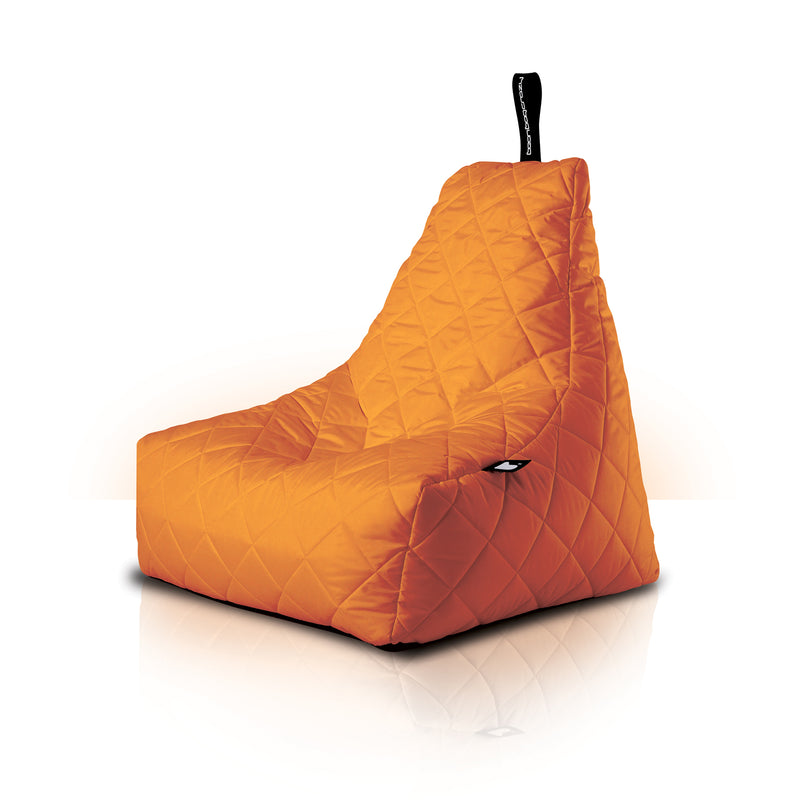 Extreme Lounging Mighty-b Quilted Outdoor Bean Bag Chair Orange