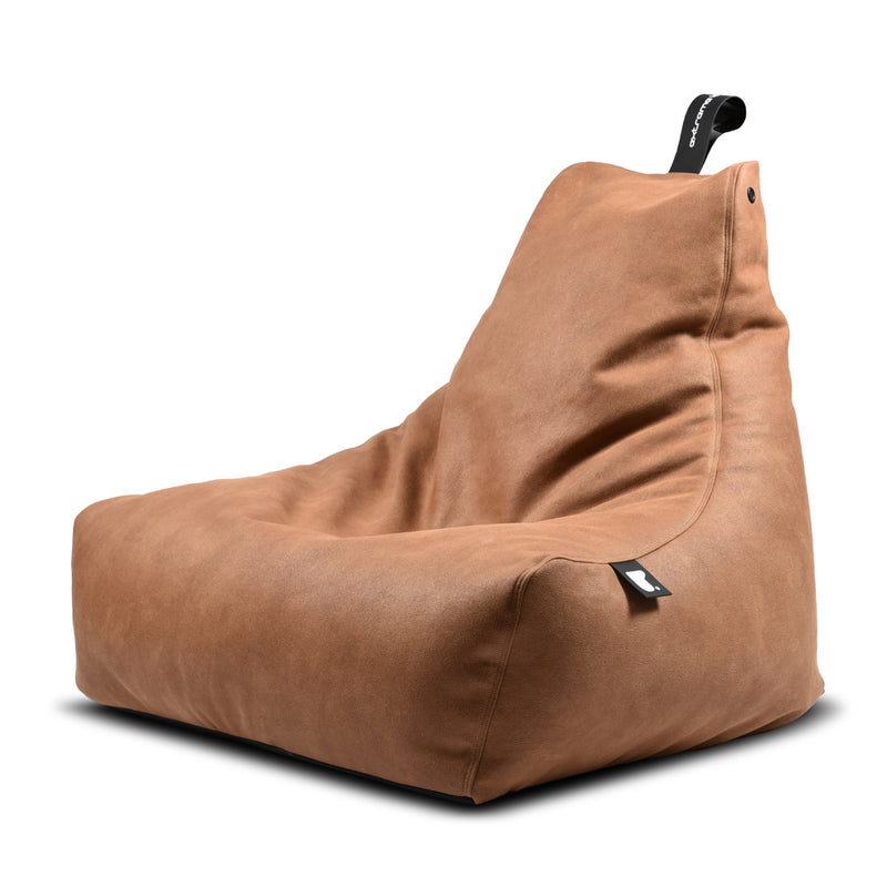 Extreme Lounging Mighty-b Bean bag Chair Leather Look Tan