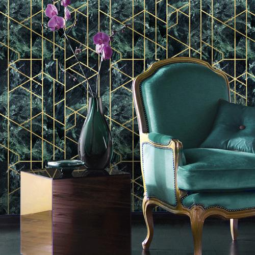 Mind The Gap Gramercy Emerald Green Wallpaper