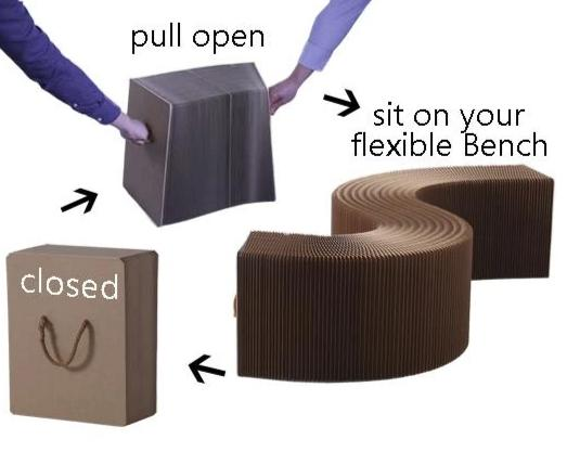 Paper Lounge Flexible Bench