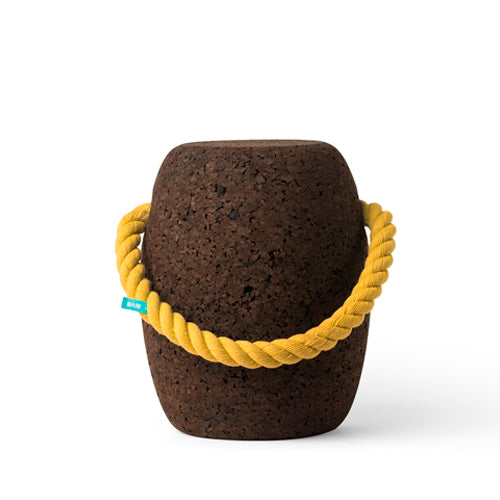 Pipo Cork Stool Small - Coloured Handles Yellow